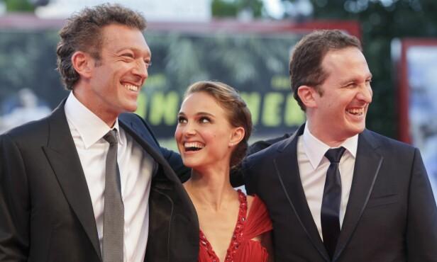 <strong>SPILTE SAMMEN:</strong> Cassel spilte sammen med Natalie Portman (37) i filmen «Black Swan» fra 2010. Her med regissøren for filmen, Darren Aronofsky (t.h.). Foto: NTB Scanpix