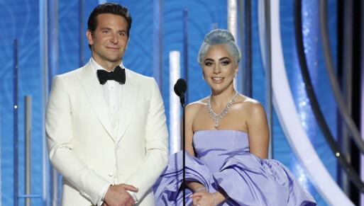 SNYTT: Bradley Cooper og Lady Gagas nye film, «A star is born», var nominert til fem Golden Globe-priser. Imidlertid ble det bare én pris på filmen, for beste låt. Foto: NTB scanpix