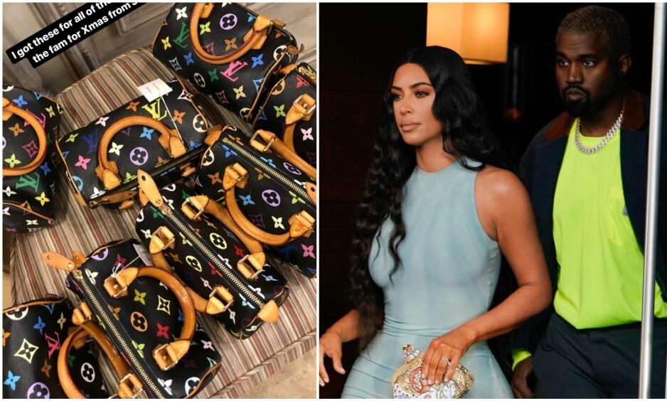 HELLER BENSIN PÅ RYKTEBÅLET: Etter at Kim Kardashian delte et bilde av sitt nyeste innkjøp, har babyryktene satt fart igjen. Foto: Instagram, NTB Scanpix