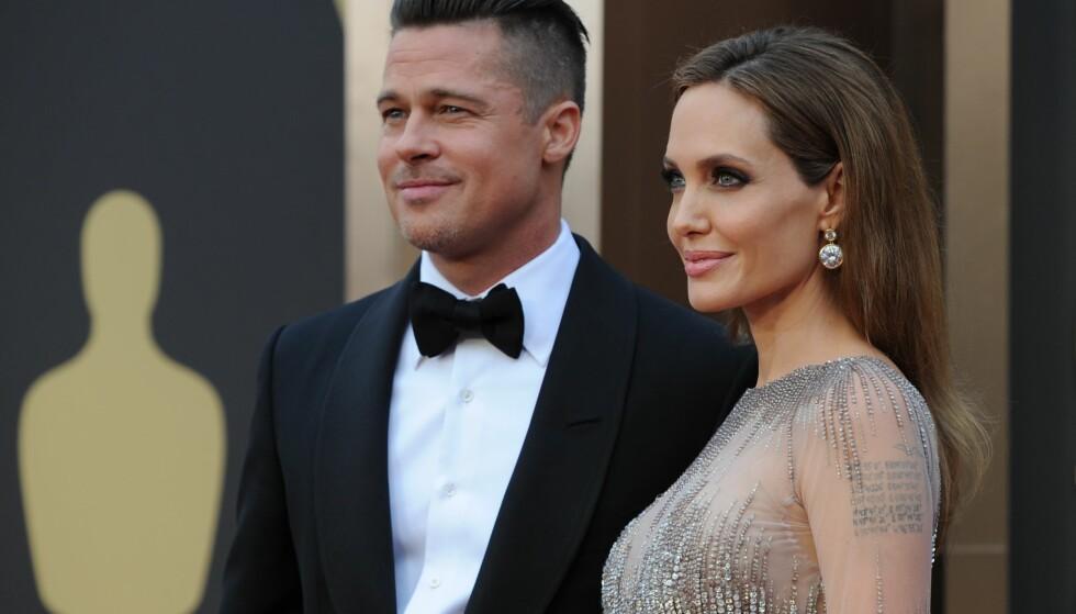 SKILSMISSE: Brad og Angelina var kjærester i tolv år, og ektepar i to. Mange fikk sjokk da de i 2016 annonserte at de skulle skille seg. Foto: NTB Scanpix