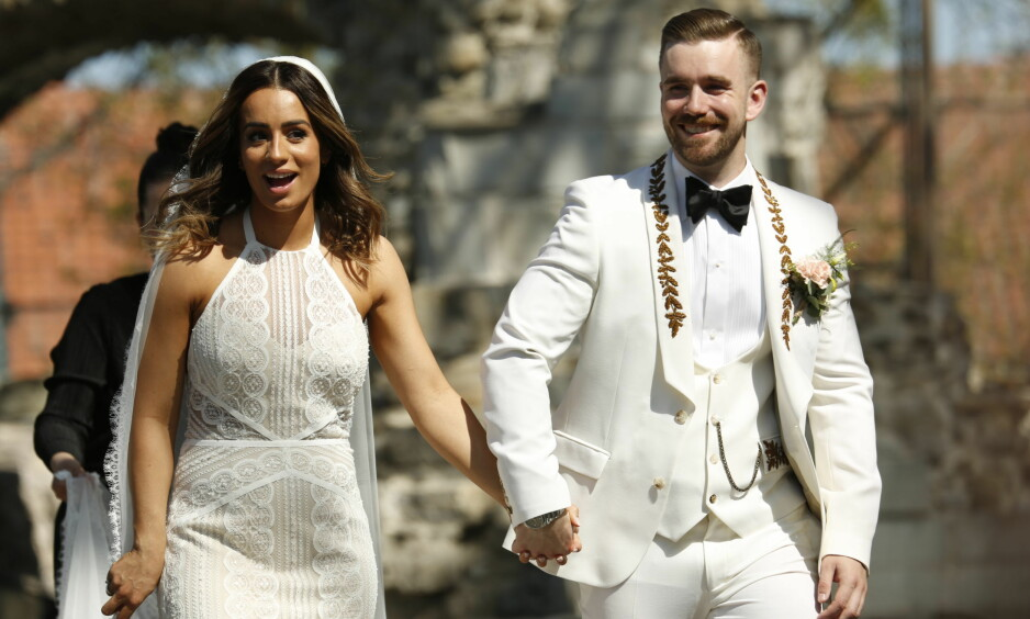 <strong>FORELDRE:</strong> Jamina og Stian Blipp giftet seg i Hamar, lørdag 19. mai i fjor. Nylig ble de foreldre for første gang. Foto: Tor Lindseth/ Se og Hør