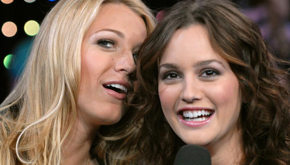 <strong>VENNINNER:</strong> Blake Lively og Leighton Meester spilte bestevenninnene Serena og Blair i den populære serien. Foto: NTB Scanpix