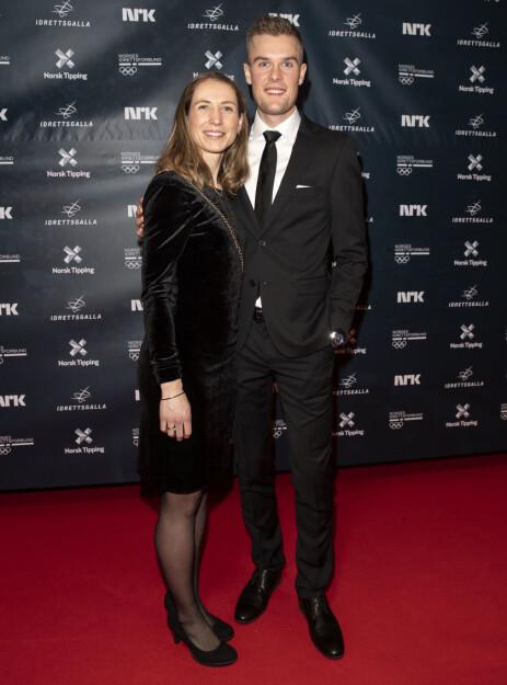 <strong>SLITSOMT:</strong> Filip Ingebrigtsen ankom prisutdelingen med kona Astrid Mangen Ingebrigtsen. Han ville blitt noe mindre slitsomt enn løper. Foto: andreas Fadum / Se og Hør