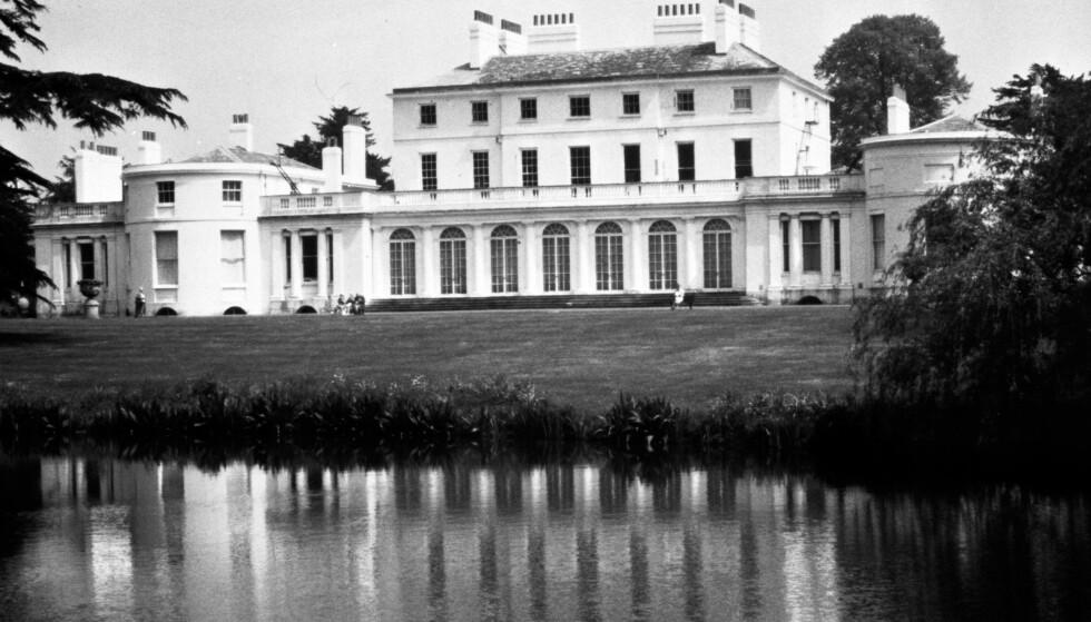 FROGMORE: Til våren flytter Meghan og Harry flytter til et hus tilknyttet Frogmore House (avbildet) i Windsor. Frem til da skal huset pusses opp og få forbedret sikkerheten. Foto: NTB Scanpix