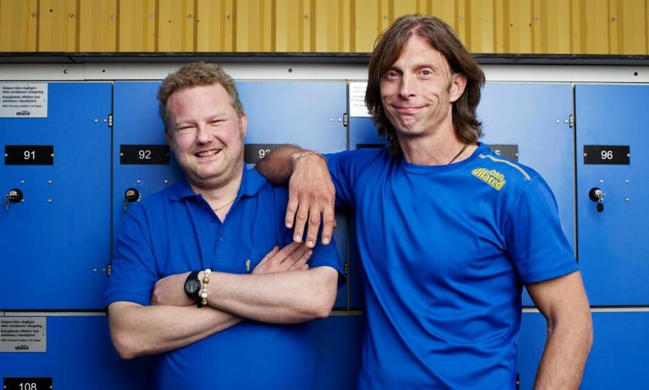 RADARPAR: Realityduoen Morgan Karlsson (45) og Ola-Conny Wallgren (54) framstår kanskje som verdens beste venner på tv. Virkeligheten er riktignok en litt annen. Foto: Kanal5 / Discovery