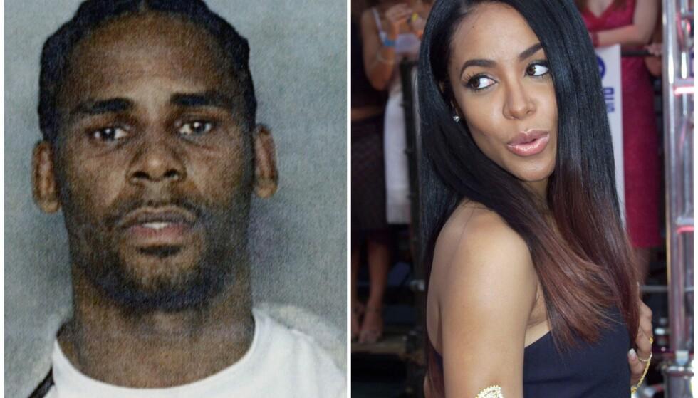 KONTROVERSIELT: I 1994 skal R. Kelly angivelig ha giftet seg med artisten Aaliyah, som den gang var 15 år gammel. I 2001 led hun en tragisk skjebne. Foto: NTB Scanpix