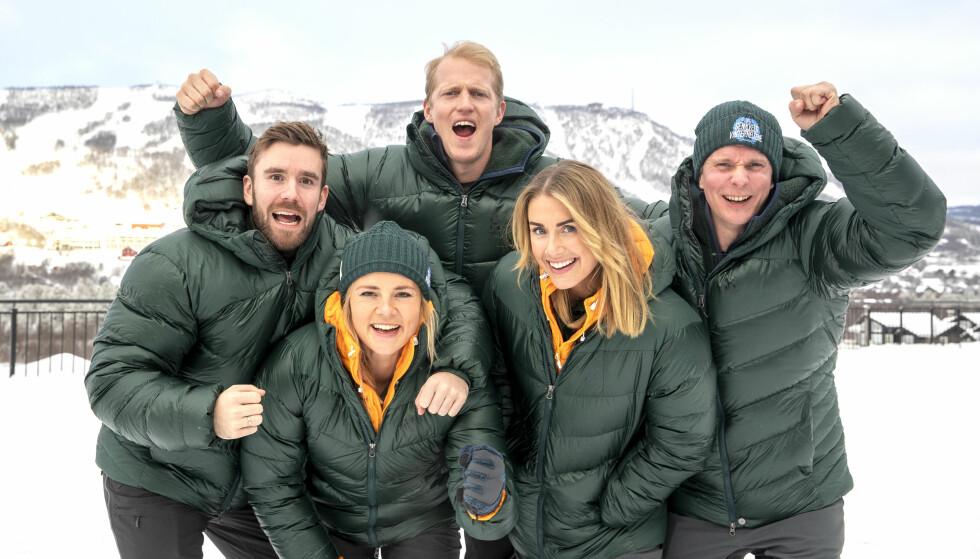 <strong>«TEAM SENKVELD»:</strong> Stian Blipp og Helene Olafsen har fått med seg Tone Damli, Erik Follestad og Petter Pilgaard med på laget. Foto: Andreas Fadum