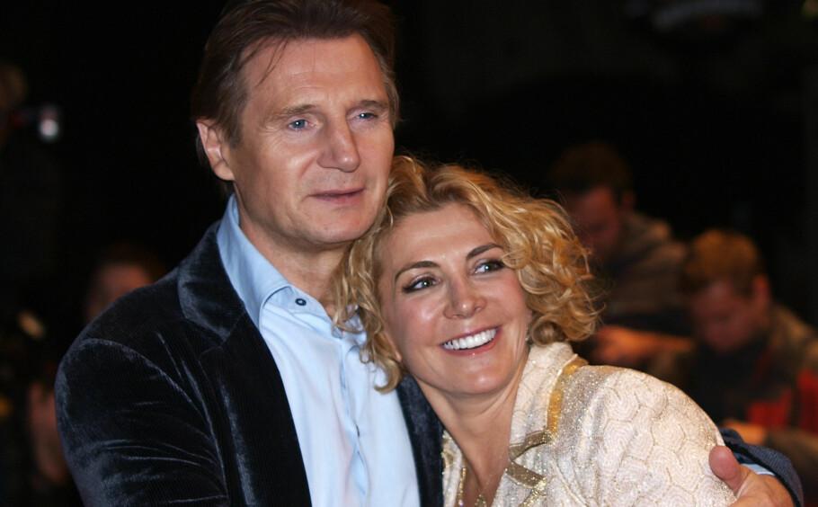 <strong>ENKEMANN:</strong> Hollywood-stjernen Liam Neeson mistet skuespiller-kona Natasha Richardson (på bildet) i 2009. I helgen døde nevøen hans. Foto: NTB Scanpix