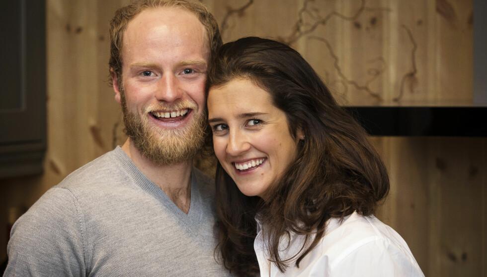 STØTTE: Martin er stolt av kona Marieke Heggeland, som tar mye av oppgavene hjemme. De to giftet seg i 2015. Marieke jobber som fysioterapeut. Foto: Espen Solli / Se og Hør