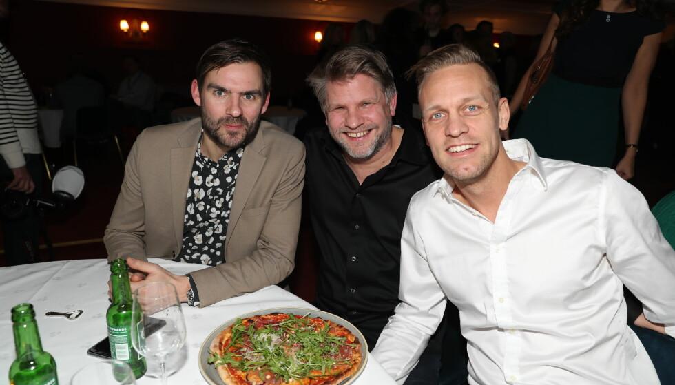 HUMORPRISEN: Henrik Thodesen, Håvard Lilleheie og Mads Hansen. Foto: Andreas Fadum / Se og Hør