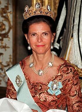 <strong>1998:</strong> Dronning Silvia avbildet som 53-åring. Foto: NTB Scanpix