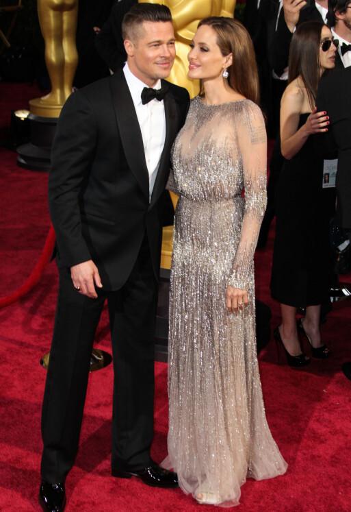 SKILTE LAG: Brad og Angelina var et av Hollywoods hotteste par da de var sammen. Her i 2014. Foto: NTB Scanpix