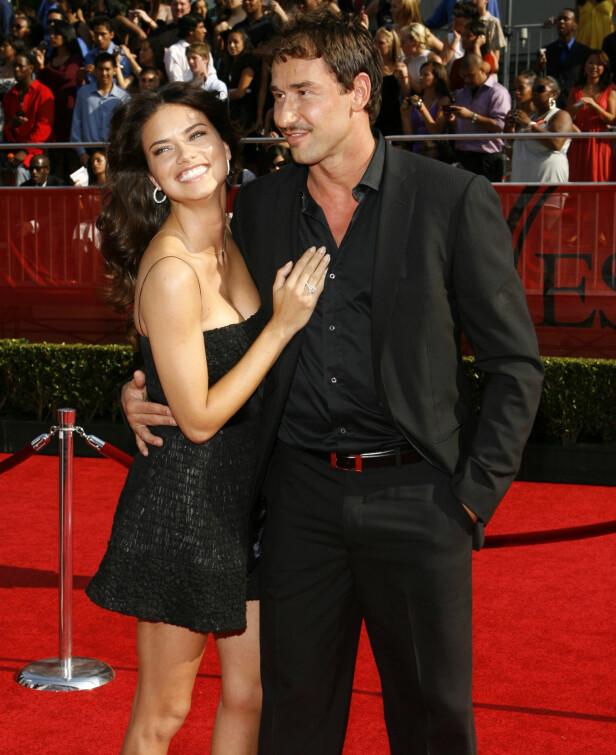BRUDD: I 2015 gikk Adriana Lima og Marko Jaric fra hverandre. Dette bildet er tatt av paret i Los Angeles sommeren 2008. Foto: NTB scanpix