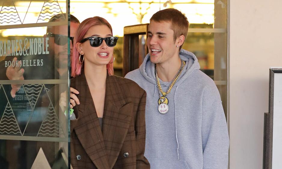 UTSETTER: Ekteparet Justin Bieber og Hailey Baldwin utsetter sitt andre bryllup nok en gang, ifølge TMZ. Foto: NTB scanpix