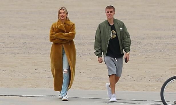 KRISTENT BRYLLUP: Stjerneparet Hailey og Justin skal ha enda et bryllup, men denne gangen skal det være kristent. Foto: NTB scanpix