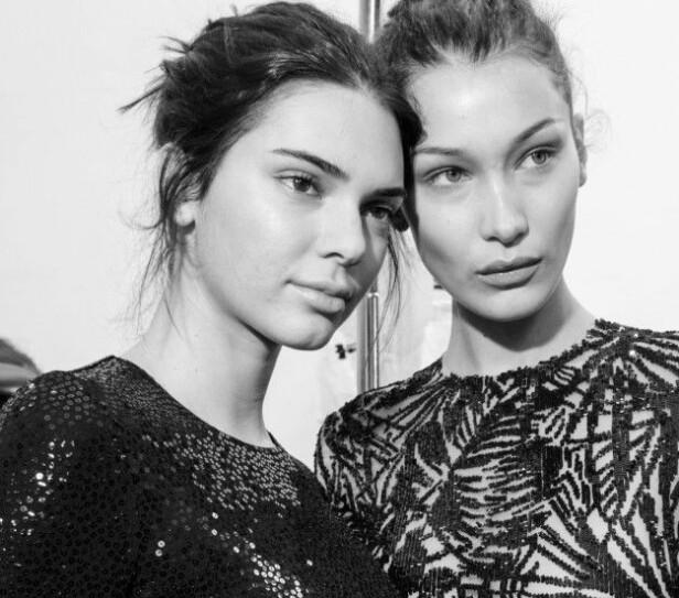 SLO TILBAKE: Bella Hadid (t.h) gikk i forsvar da en Instagram-bruker hevdet at hun og venninnen, Kendall Jenner, har dårlige personligheter. Foto: NTB scanpix