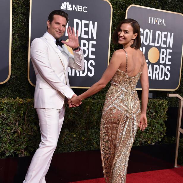 FORELDRE: Bradley Cooper og Irina Shayk har vært et par siden 2015, og i 2017 ble de foreldre til Lea De Seine. Her på rød løper under Golden Globe nylig. Foto: NTB Scanpix