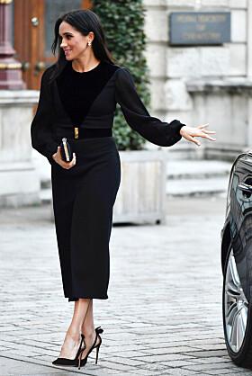 INGEN BEKYMRING: Hertuginne Meghan så ikke ut til å bry seg om lukkingen av bildøren. Episoden vekket derimot oppmerksomhet hos mange andre. Foto: NTB Scanpix