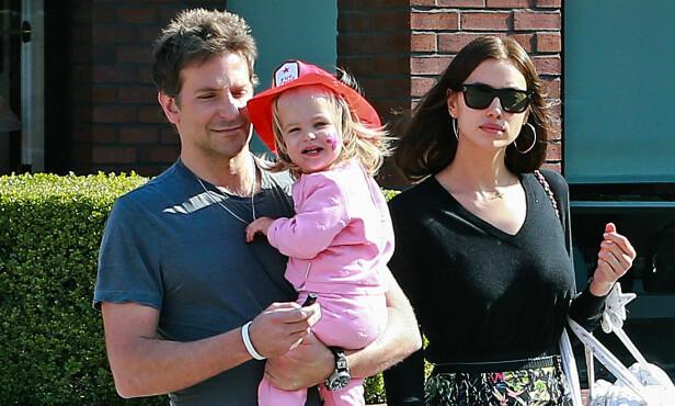 DATTER: Cooper og Shayk har vernet om privatlivet til datteren Lea. Foto: NTB Scanpix