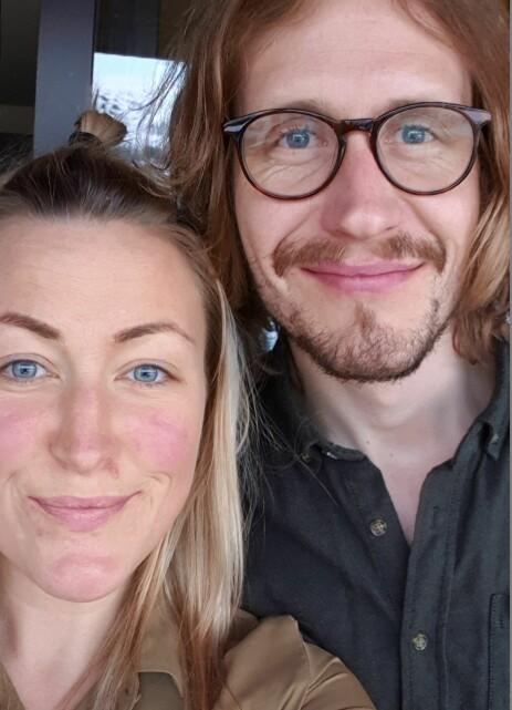 FORELSKET: Forholdet mellom Stine Hartmann og Jakob Næss ble kjent tidligere i fjor. Foto: Privat