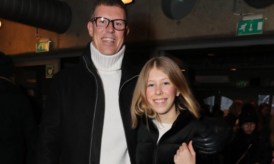 <strong>FAR OG DATTER:</strong> Jan Fredrik Karlsen og dattera Felicia Formoe Karlsen gleder seg til å se Janne Formoe på scenen lørdag ettermiddag. Foto: Andreas Fadum / Se og Hør