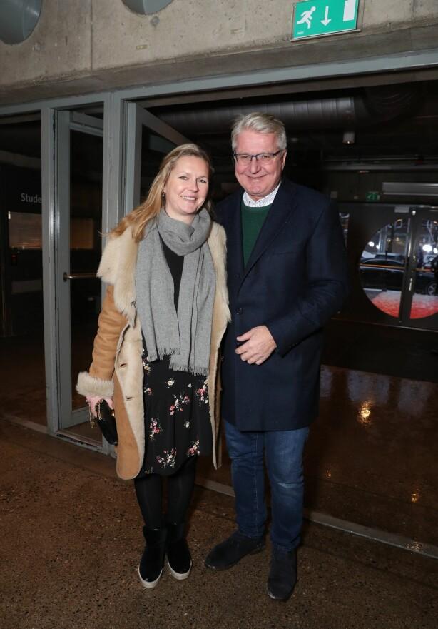 <strong>DATE:</strong> Fabian Stang og kjæresten Catharina Munthe dukket opp til kveldens forestilling. Foto: Andreas Fadum / Se og Hør