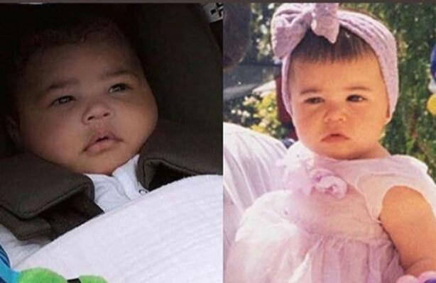 STORE LIKHETER: Det er enkelt å se hvem vesle Stormi (t.v) slekter på. Foto: Kylie Jenner / Instagram