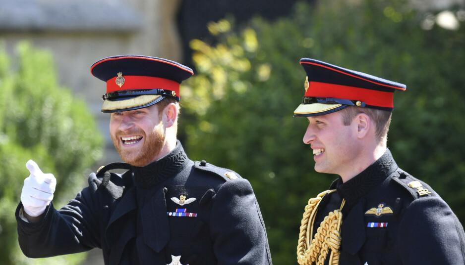 SPESIELT FORHOLD: Prins Harry og prins William har alltid stått hverandre nær. De siste par årene skal imidlertid forholdet deres ha endret seg kraftig. Foto: NTB Scanpix