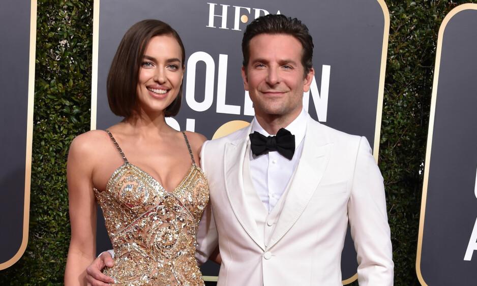 FLOTT DUO: Her er stjerneparet Irina Shayk og Bradley Cooper sammen under årets Golde Globe Awards sist måned. Foto: NTB Scnapix