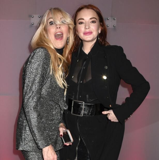 <strong>MOR OG DATTER:</strong> Folk er godt kjent med overskrifter som gjelder Lindsay Lohan. Nå er det derimot mamma Dina som vekker mest oppsikt. Foto: NTB Scanpix