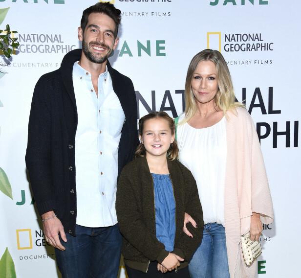 TRIO: Duoen sammen med Garths yngste datter Fiona på en premiere i Hollywood høsten 2017. Foto: NTB Scanpix
