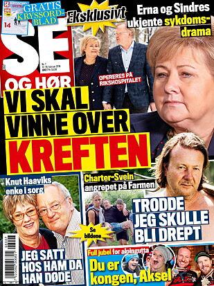 STORT INTERVJU: I ukens Se og Hør kan du lese mer om Erna og Sindres kamp.