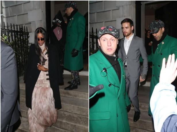 HVER FOR SEG: Her forlater Naomi Campbell og Liam Payne «Vogue x Tiffanys»-etterfesten søndag kveld med bare minutters mellomrom. Foto: NTB Scanpix