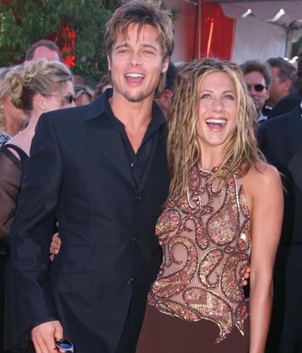 POPULÆRT PAR: Brad Pitt og Jennifer Aniston var gift mellom 2000 og 2005, og ekteskapet gjorde dem til et av Hollywoods mest berømte par. Foto: NTB scanpix
