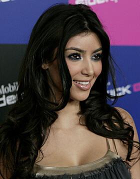 2007: Kim Kardashians nese i 2007. Flere mener at nesen hennes på denne tiden var større enn den er i dag. Foto: NTB Scanpix
