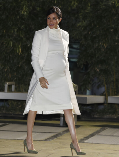 STOR KUL: Hertuginne Meghan avbildet for en uke siden i London. Foto: NTB Scanpix