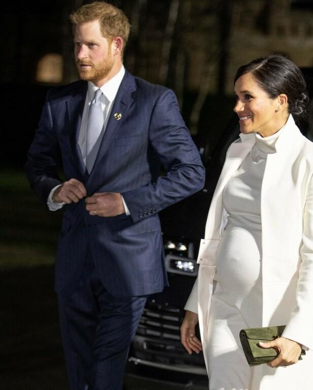 VORDENDE FORELDRE: Terminen til hertuginne Meghan er ventet å være i april. Her er hertugparet avbildet tidligere denne måneden. Foto: NTB scanpix