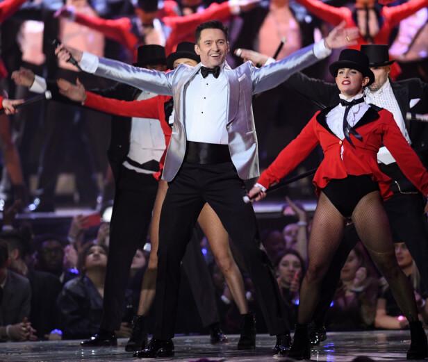 OPPTRÅDTE: Den storslåtte musikkaftenen fikk en pangstart med en opptreden fra filmen The Greatest Showman. Foto: NTB scanpix