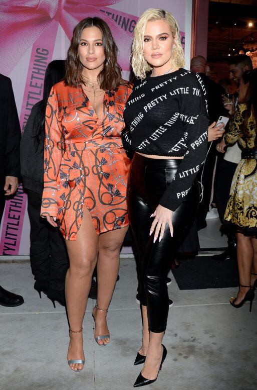 GJEMMER SEG IKKE: Onsdag kveld var Khloé Kardashian tilbake i rampelyset, da hun var med på Pretty Little Thing-åpning i Los Angeles sammen med blant andre Ashley Graham. Ashley er for øvrig plus size-modell, i likhet med Jordyn Woods. Foto: NTB scanpix