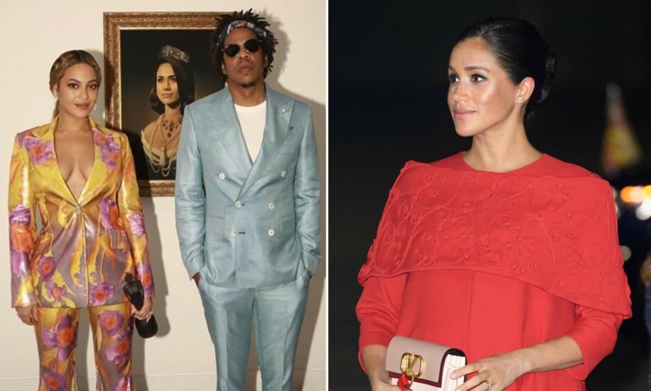 HYLLEST: Beyonce og Jay Z erstattet Mona Lisa med hertuginne Meghan i en takkevideo i forbindelse med Brit Awards. Nå forklarer sangstjernen hvorfor. Foto:Skjermdump, Instagram / NTB Scanpix