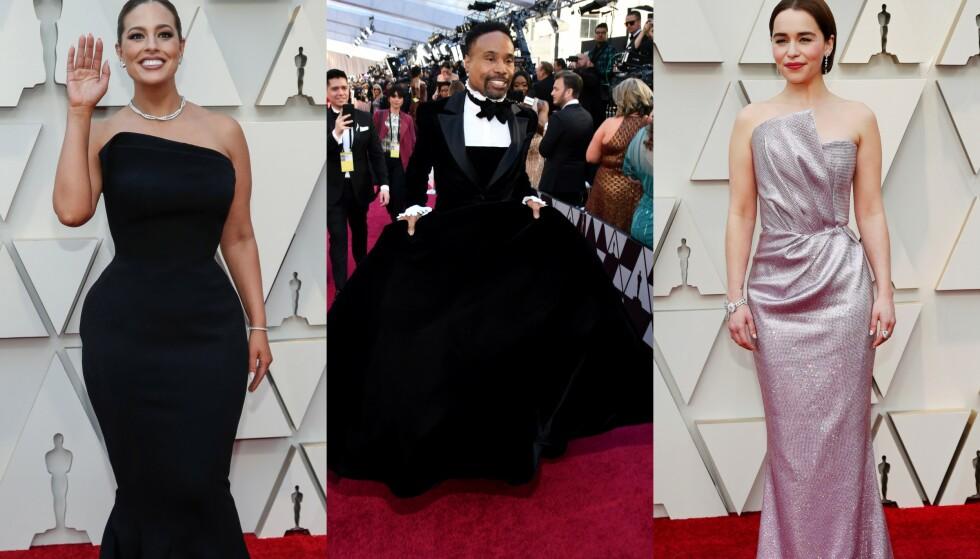FORSKJELLER: Natt til mandag gikk Oscar-utdelingen av stabelen i Los Angeles, og Hollywoods mest berømte dukket opp i sin fineste stas. Foto: NTB scanpix