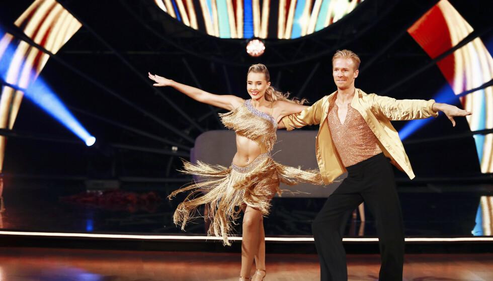 BLE VENNER: Martine og dansepartner Fredric ble gode venner under «Skal vi danse». Foto: Thomas Reisæter/ TV 2