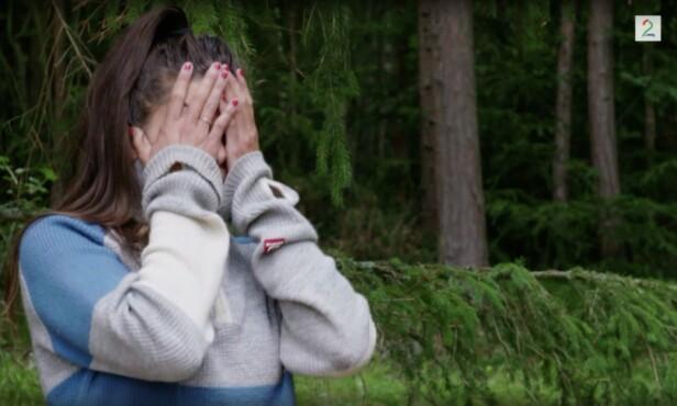 OPPRØRT: Kristin var tydelig frustrert under diskusjonen med Aune. Foto: TV2