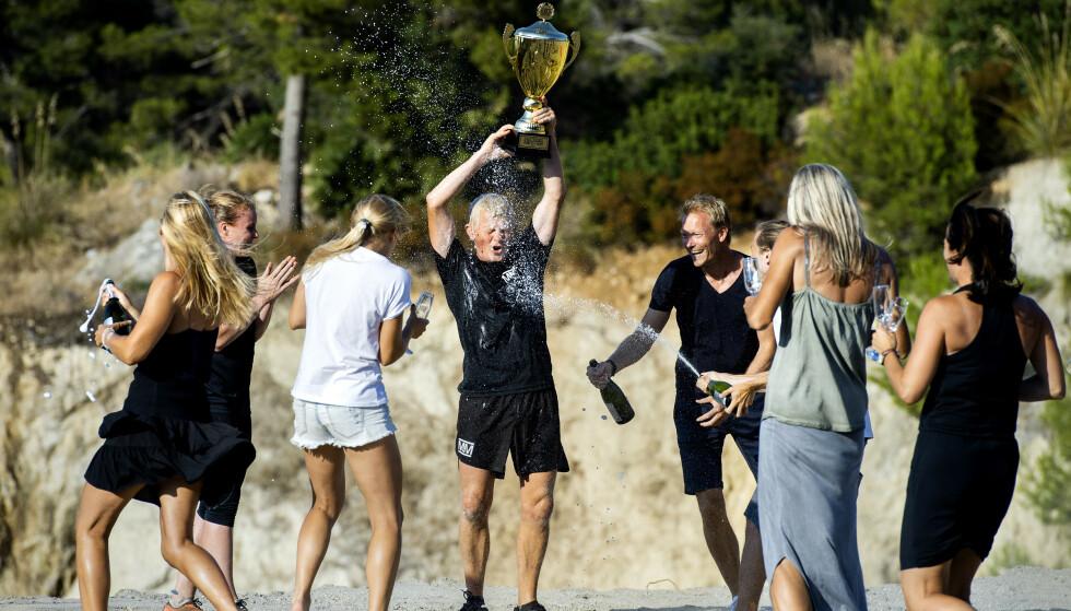 <strong>FEST:</strong> Pål Anders Ullevålseter i seiersrus etter resultatet i finalen. Foto: John T. Pedersen / Dagbladet
