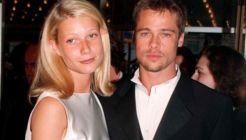 EKSKJÆRESTER: Gwyneth Paltrow var 22 år gammel da hun ble kjæreste med Brad Pitt. Foto: NTB Scanpix
