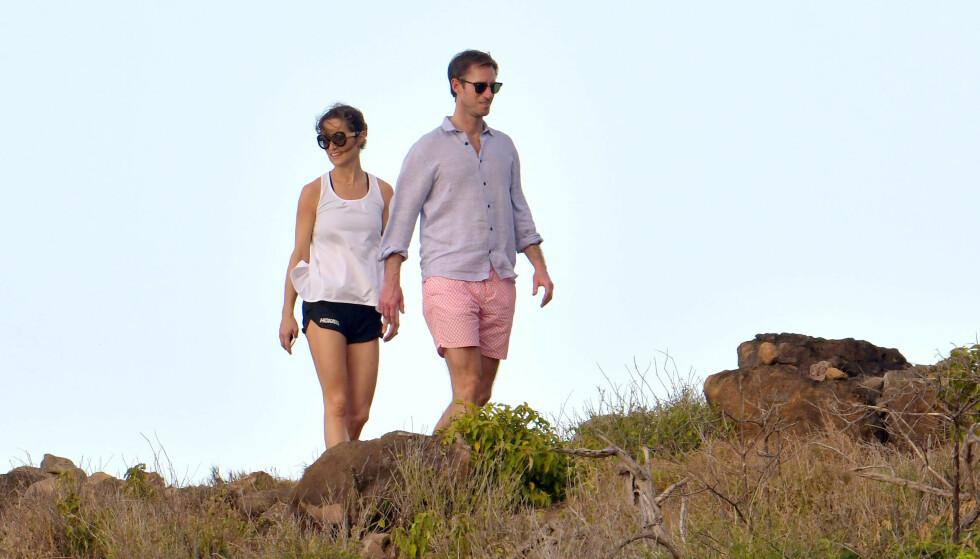 <strong>ROMANTISK GÅTUR:</strong> Pippa Middleton og James Matthews tok seg tid til å pleie kjærligheten under ferien. Foto: NTB Scanpix