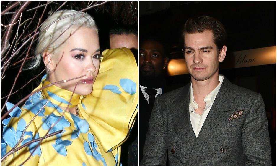 SKAR SEG: Ifølge flere britiske medier har forholdet mellom Rita Ora og Andrew Garfield tatt slutt. Det er sistnevnte som skal ha valgt å bryte romansen. Foto: NTB Scanpix