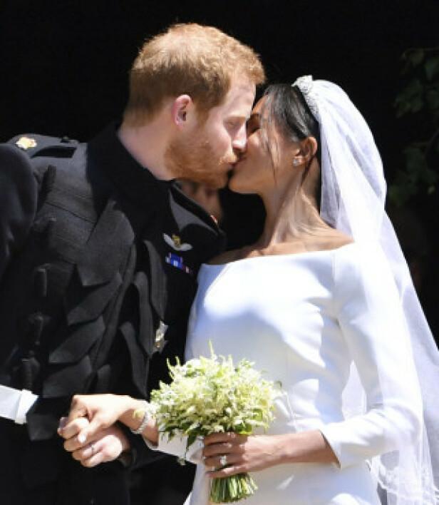 EVENTYRBRYLLUP: En hel verden fulgte med da prins Harry giftet seg med den amerikanske «Suits»-stjerna Meghan Markle 19. mai i fjor. Foto: AP / NTB scanpix