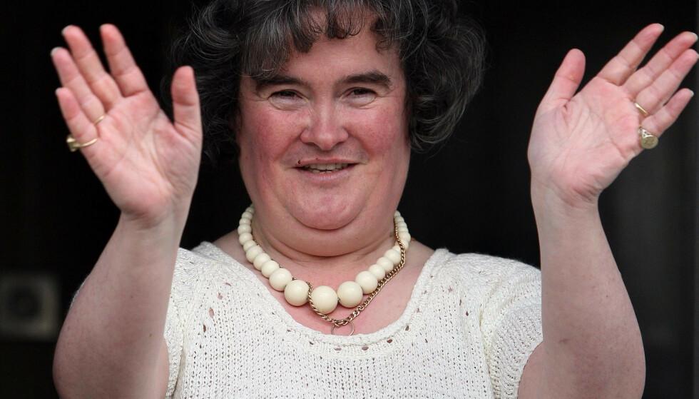 STJERNE: Susan Boyles enorme talent overrasket en hel verden for ti år siden. Siden den gang har hun trukket seg tilbake. Foto: NTB Scanpix