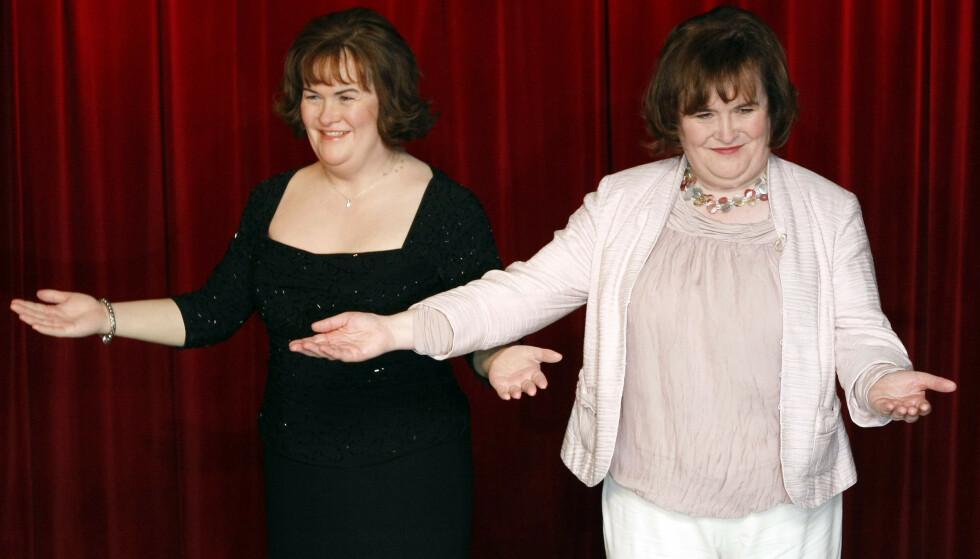 VOKSFIGUR: I 2011 ble Susan Boyle hedret med sin egen voksfigur på museet Madame Tussauds i London. Foto: NTB Scanpix
